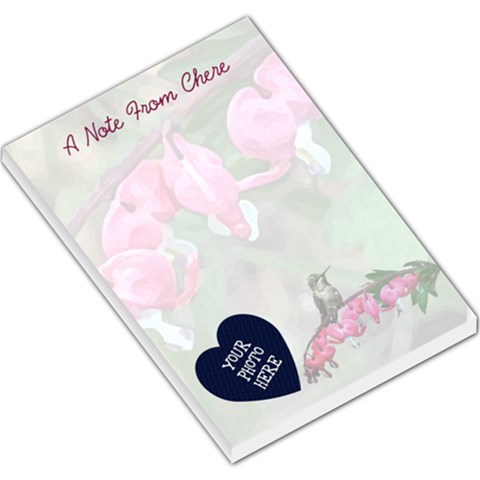Bleeding Heart Note Pad 7 12x5 5 By Chere s Creations   Large Memo Pads   Fu5cwk3d3ck8   Www Artscow Com
