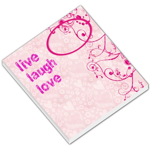Live Laugh Love Memo Pad By Catvinnat   Small Memo Pads   So7k0azoqmnz   Www Artscow Com