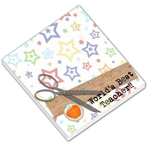 Best Teacher Memo Pad By Ashley   Small Memo Pads   Kiz3huthxt1v   Www Artscow Com