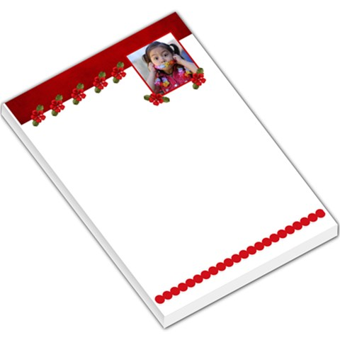 Red Flowers Memo Pad By Jennyl   Large Memo Pads   Urgdi3kp1cud   Www Artscow Com