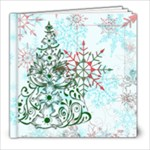 xmas swirl 8x8 album 2 - 8x8 Photo Book (20 pages)