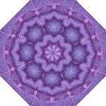 Purple Mosaic Tiled Grass by Celeste Sheffey - Folding Umbrella
