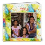 Tie Dye ScrapBook - 8x8 Photo Book (20 pages)