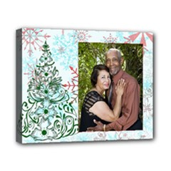 xmas tree w/snowflakes canvas - Canvas 10  x 8  (Stretched)