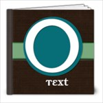 Premade Book . Blue Green brown  - 8x8 Photo Book (20 pages)