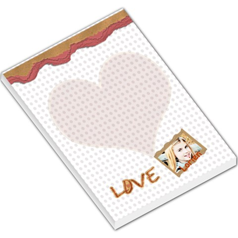 Love Notebook By Danielle Christiansen   Large Memo Pads   Pdwom8pmkgly   Www Artscow Com