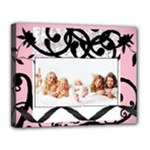 pink & Black elegance - Canvas 14  x 11  (Stretched)