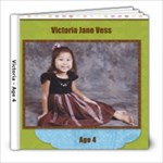 all about me at Age 4 - 8x8 Photo Book (30 pages)