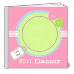 Going Pastels 8x8 2011 Monthly Planner - 8x8 Photo Book (30 pages)