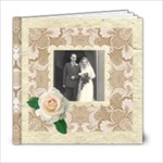 Wedded Bliss Mocca Damask 6 x 6 Celebration album - 6x6 Photo Book (20 pages)
