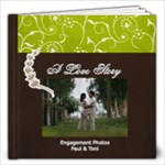 12x12 - A Love Story- Simple Engagement/Wedding Photobook Template - 12x12 Photo Book (20 pages)