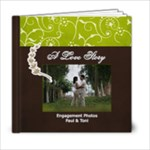 6x6- A Love Story- Simple Engagement/Wedding Photobook Template - 6x6 Photo Book (20 pages)