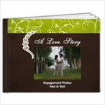 9x7- A Love Story- Simple Engagement/Wedding Photobook Template - 9x7 Photo Book (20 pages)