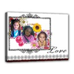 flower girls - Canvas 16  x 12  (Stretched)