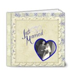 Just Married 6 x 6 Deluxe Wedding Album - 6x6 Deluxe Photo Book (20 pages)