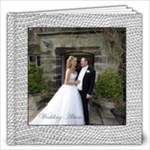 Sumptuous Silver Leather Wedding Album 12 x 12 60 page  - 12x12 Photo Book (60 pages)