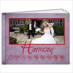 Harmony  Hearts Purple & red 39 page 9 x 7 album - 9x7 Photo Book (39 pages)
