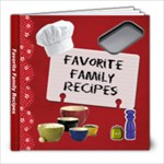 Family Favorite Recipes - 8x8 Photo Book (30 pages)