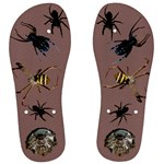 Spiders on your thongs - Men s Flip Flops