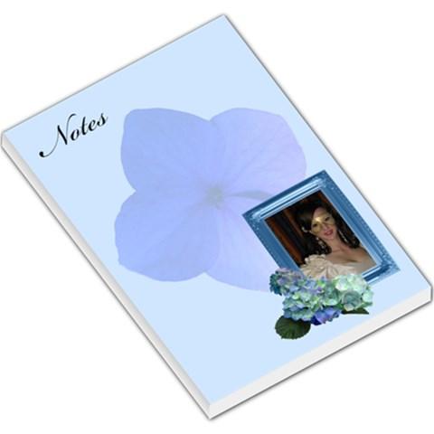 Blue Hydranga Large Memo Pad By Deborah   Large Memo Pads   Wgh9oxttlbla   Www Artscow Com