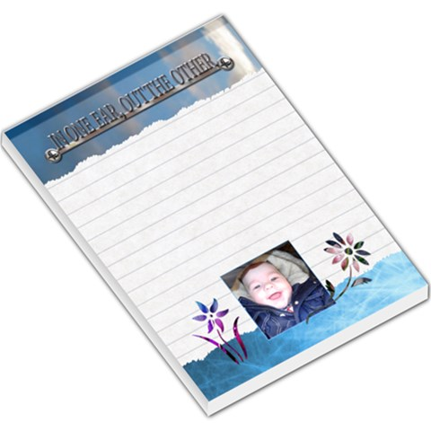In One Ear, Out The Other Large Memo Pad By Lil    Large Memo Pads   Yr9p64itkj5y   Www Artscow Com