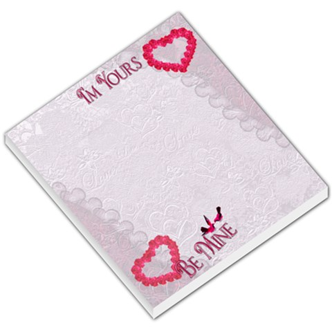 I m Yours Be Mine Hearts N Roses Memo Pad By Ellan   Small Memo Pads   Dm4s5dzwhepz   Www Artscow Com