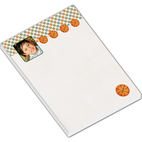 Large Memo Pads   Basketball By Jennyl   Large Memo Pads   Sspfmk040vye   Www Artscow Com