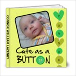 Connor Cute As A Button 6x6 Photo Book - 6x6 Photo Book (20 pages)