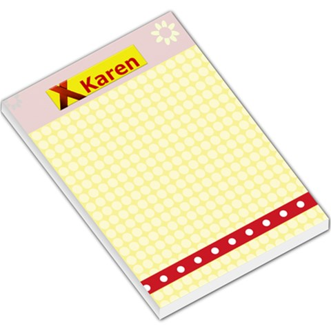Yellow & Red Notepad By Danielle Christiansen   Large Memo Pads   Bvvvdr0weeyl   Www Artscow Com