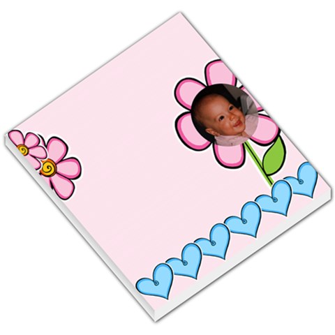 Sweet Pink Hearts And Flowers Small Memo By Deborah   Small Memo Pads   U9ze3qav2vam   Www Artscow Com