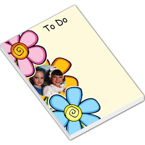 Flower To Do Large Memo Pad By Deborah   Large Memo Pads   J1txbvguxms7   Www Artscow Com