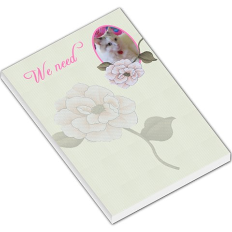 We Need Large Memo Pad By Deborah   Large Memo Pads   873wol8rhhul   Www Artscow Com