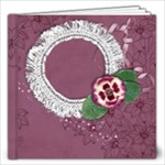 12x12 Purple Gardens Album- template - 12x12 Photo Book (20 pages)