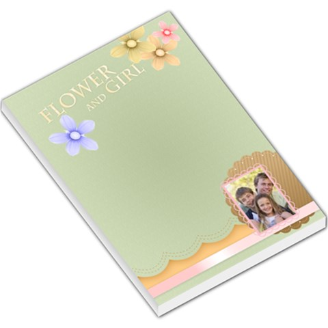 Flower And Girl By Joely   Large Memo Pads   Eisljqru4wmo   Www Artscow Com
