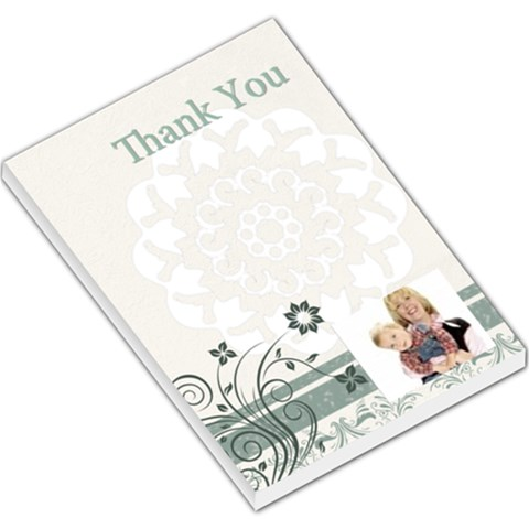 Thank You By Joely   Large Memo Pads   Pf705jlbd1m7   Www Artscow Com
