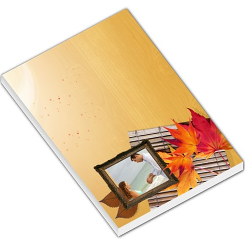 Fall Time By Wood Johnson   Large Memo Pads   K63sxvhv2uz5   Www Artscow Com