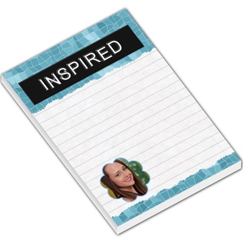 Inspired Large Memo Pad By Lil    Large Memo Pads   15t5rsgb25ws   Www Artscow Com