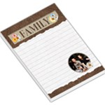 Family Flower Design Large Memo Pad - Large Memo Pads