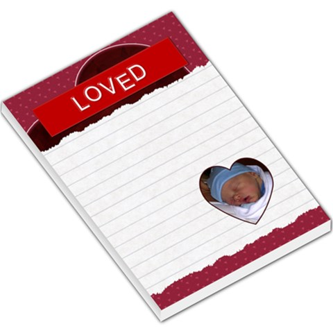 Loved Large Memo Pad By Lil    Large Memo Pads   0hzxsw1mxn1n   Www Artscow Com