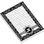 Black & White Memo Pad with Monogram - Large Memo Pads