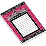 Black & Pink Crown Memo Pad - Large Memo Pads