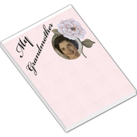 My Grandmother Large Memo Pad By Deborah   Large Memo Pads   Gpwyc7ta3hs9   Www Artscow Com