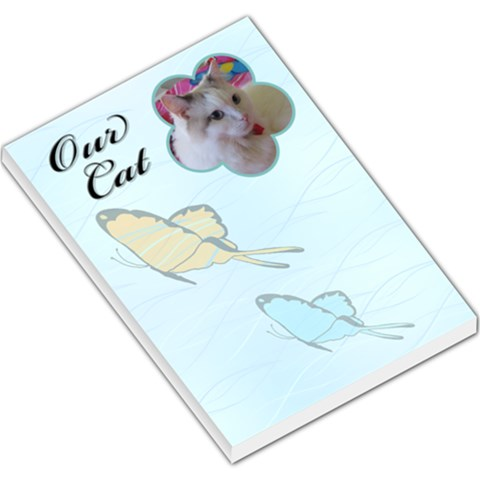 Our Cat Large Memo Pad By Deborah   Large Memo Pads   4d9prg2f6f1q   Www Artscow Com