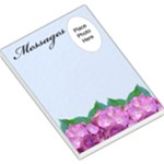 Pink Hydranga Messages Large Memo Pad - Large Memo Pads