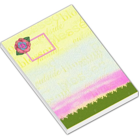 Eggzactly Spring Large Memo Pad 1 By Lisa Minor   Large Memo Pads   Q4q6pzi61rfj   Www Artscow Com