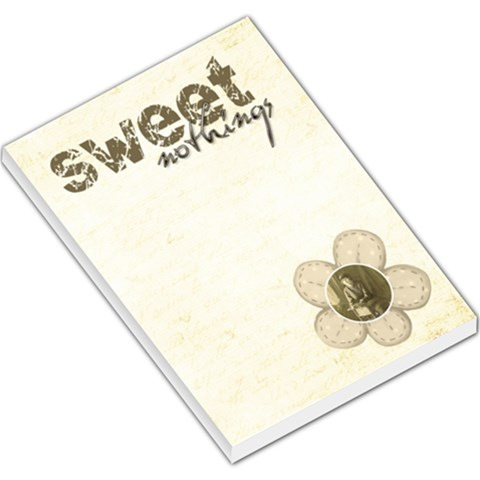 Sweet Nothings Large Memo Pad By Catvinnat   Large Memo Pads   39pxex0z8g07   Www Artscow Com