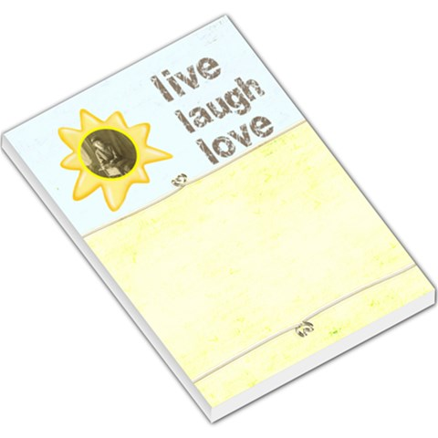 Live Laugh Love Large Memo Pad By Catvinnat   Large Memo Pads   Gdbrgodrzn4u   Www Artscow Com