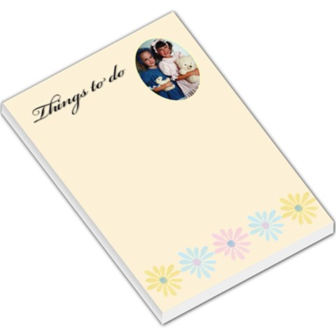 Things To Do Buttercup Large Memo By Deborah   Large Memo Pads   E7mkotcftzxh   Www Artscow Com