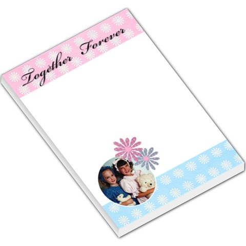 Together Forever Large Memo By Deborah   Large Memo Pads   Qii4cu2k6nzd   Www Artscow Com