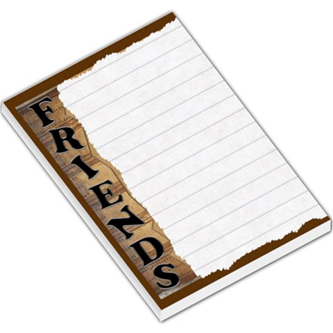 Friends Labelled Large Memo Pad By Lil    Large Memo Pads   Zgl7lpko0fyi   Www Artscow Com